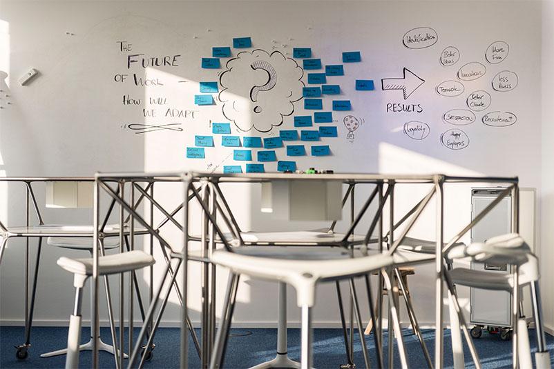 TÜV Rheinland Beispiel Innovation Space Kreativraum Creative Space Raum für Veränderung