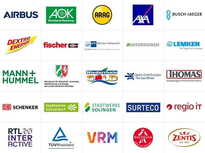 NEU Innovation Referenzen Kunden Logos Ideenkultur Raum für Veränderung Ideen