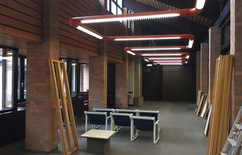 Kreativraum neue Arbeitswelt New Work Creative Space vorher-nachher Ideenkultur Innovation Space AOK vorher