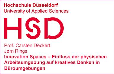 Working Paper der Hochschule Düsseldorf zu Innovation Spaces