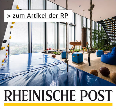 ARAG Versicherung New Work moderne Arbeitswelten Rheinische Post RP Online Artikel Presse Creative Space Ideenkultur Kommunikation NEU