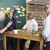 New Work Vision Zielbild Führungskräfte-Workshop Seminar Corona moderne Arbeitswelt Organsiation Bürowelt Detail