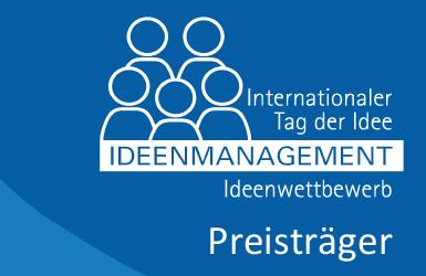 Preisträger beim Internationalen Tag der Idee