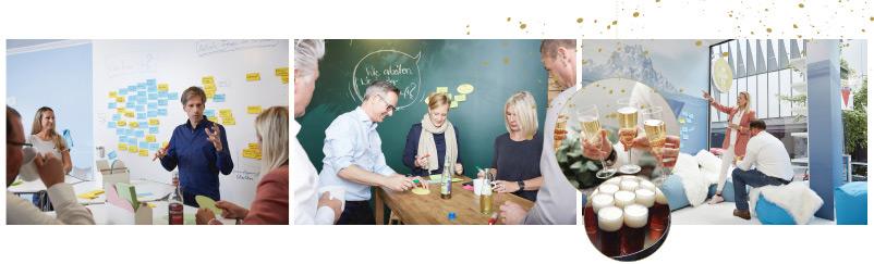 Weihnachtsfeier Neujahrsfeier New Work Lab Düsseldorf Workshopraum Workshop Essen Teamwork Team