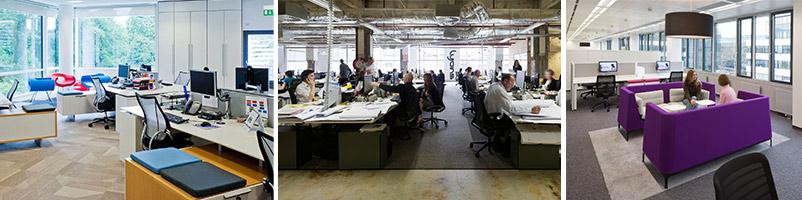 Büroformen Grossraumbüro Kombibüro Gruppenbüro Bürokonzept Artikl Team-Office-Prinzip New Work Arbeitswelt