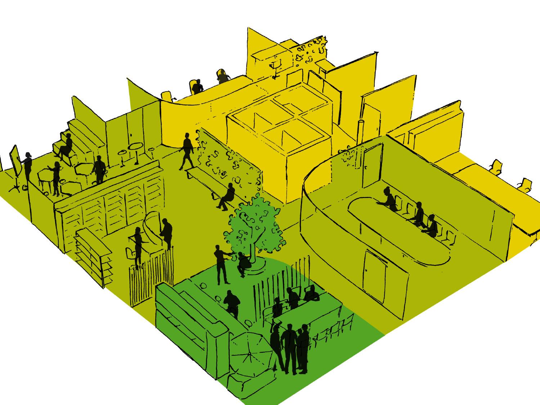 Slider Startseite NEU Innovation Ideenkultur Creative Space Team-Office-Prinzip Bürokonzept Arbeitsplatzkonzept