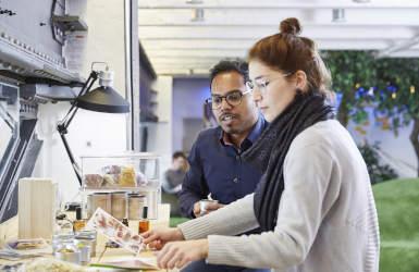 Zentis Fruchtcampus New Work Workshopraum Creative Space Kreativraum Innovation Sinneslabor Teamwork Ideenkultur Innovationskultur neue Arbeitswelt Talbot Werk Campus Jahrhunderthalle Aachen